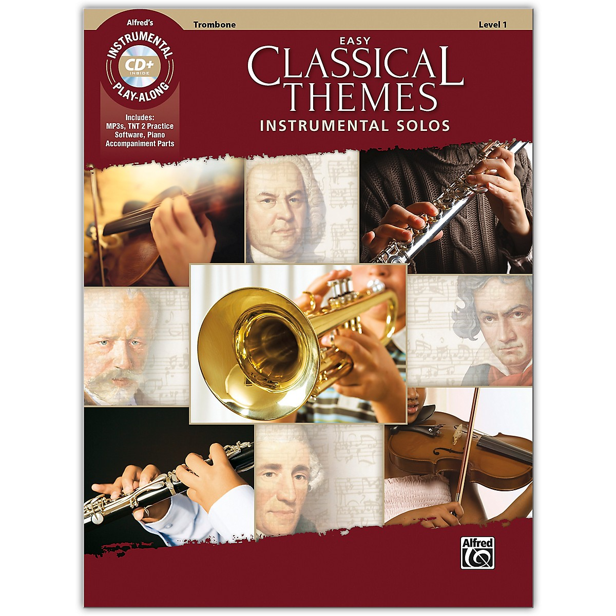 Alfred Easy Classical Themes Instrumental Solos Trombone Book & CD Level 1