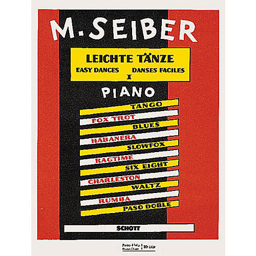 Schott Easy Dances (Volume One) Schott Series