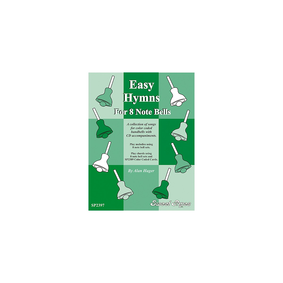 Rhythm Band Easy Hymns - 12 Hymns for 8 Note Handbells & Deskbells Book with CD