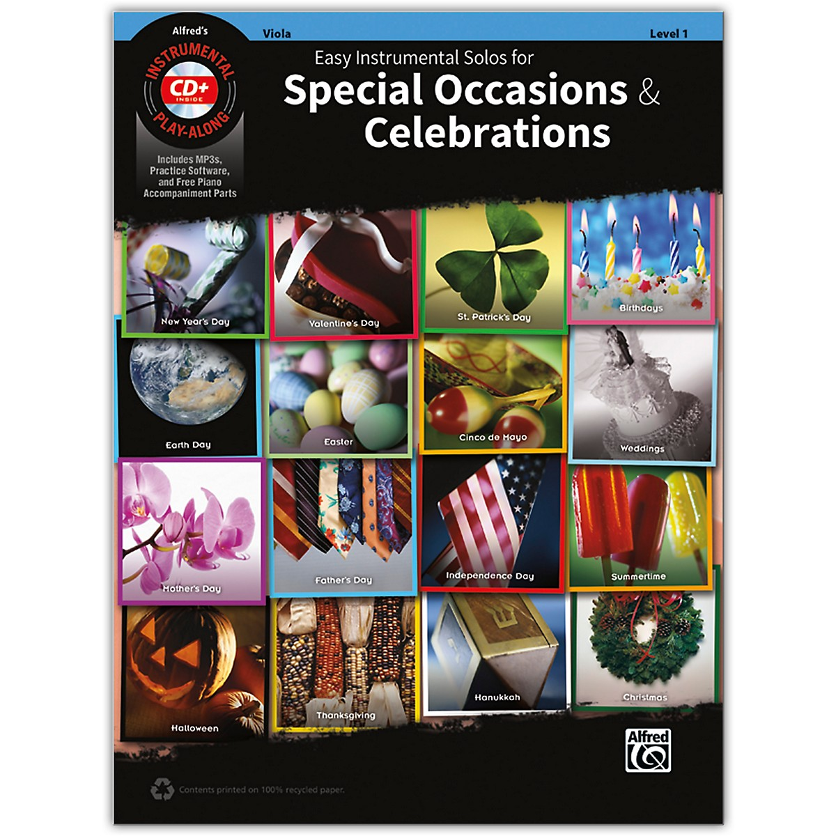 Alfred Easy Instrumental Solos for Special Occasions & Celebrations Viola Book and MP3 CD