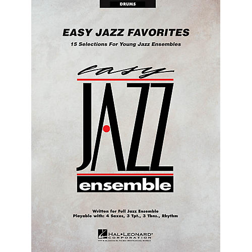 Hal Leonard Easy Jazz Favorites - Drums Jazz Band Level 2 Composed by Various