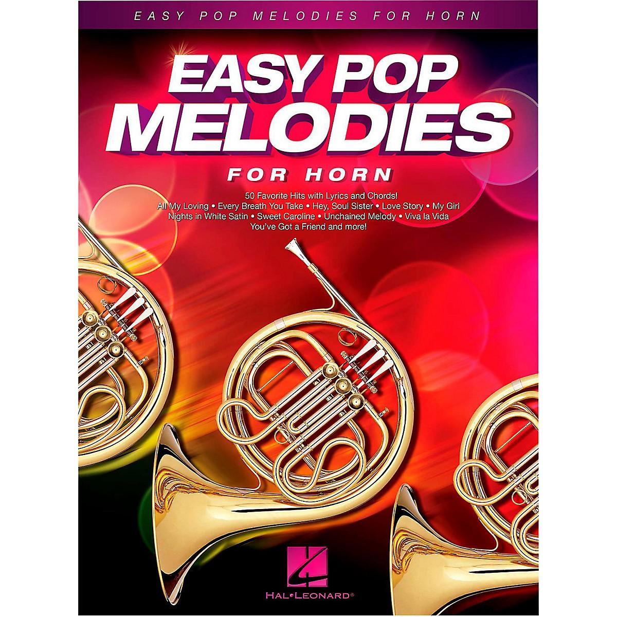 Hal Leonard Easy Pop Melodies For Horn