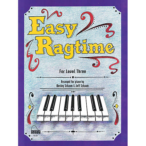 SCHAUM Easy Ragtime (Level 3 Early Inter) Educational Piano Book