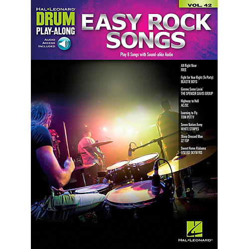hal leonard easy rock songs drum play along volume 42 book audio online guitar center. Black Bedroom Furniture Sets. Home Design Ideas
