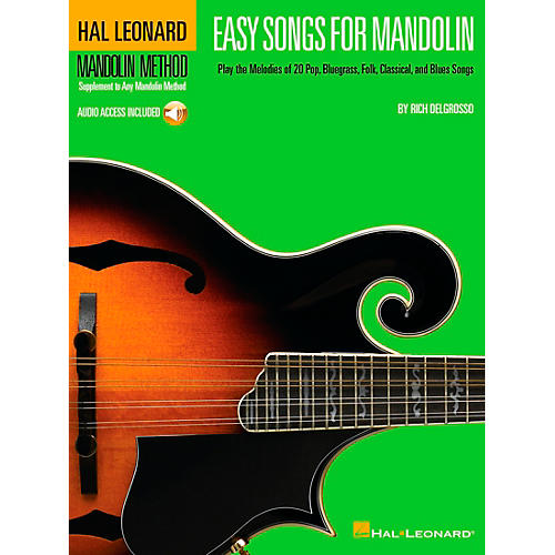 Hal Leonard Easy Songs for Mandolin Tab Book with CD Method Supplement