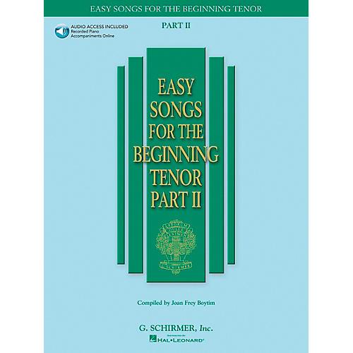 G. Schirmer Easy Songs for The Beginning for Tenor Voice Part II Book/CD