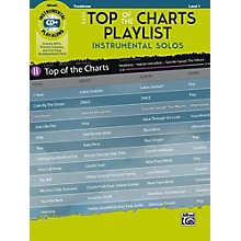 Alfred Easy Top of the Charts Playlist Instrumental Solos Trombone Book & CD Level 1