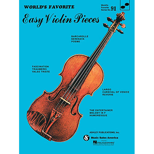 Ashley Publications Inc. Easy Violin Pieces (World's Favorite Series #91) World's Favorite (Ashley) Series Softcover