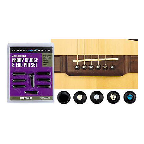 D'Addario Planet Waves Ebony Bridge/End Pin Set
