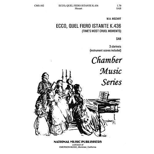 Hal Leonard Ecco Quel Fiero Instante SAB composed by Robert Carl