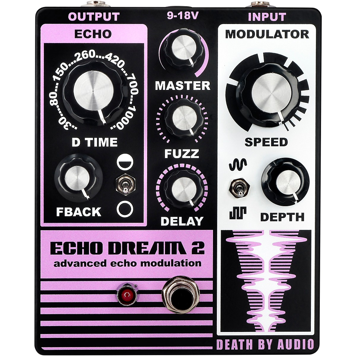 Death By Audio Echo Dream 2 Delay Effects Pedal