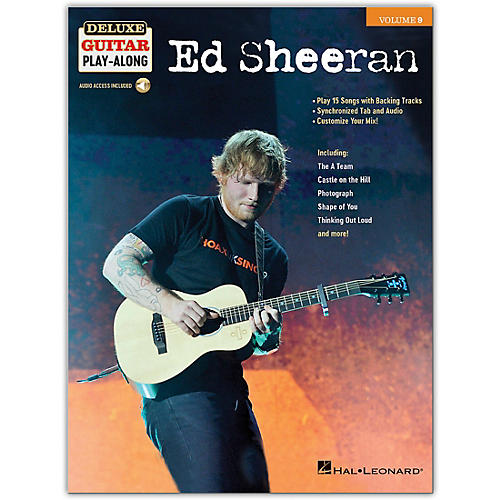 Hal Leonard Ed Sheeran Deluxe Guitar Play-Along Volume 9 Book/Audio Online