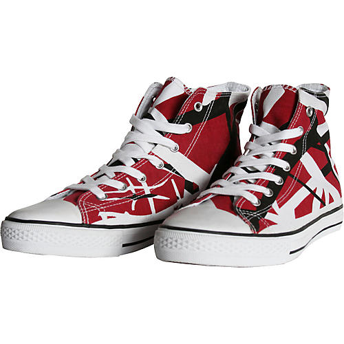 EVH Eddie Van Halen High Top Sneakers - Red, Black, and White ...