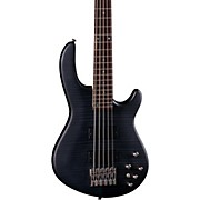 Edge 5 Flame Top Electric Bass Translucent Black Satin