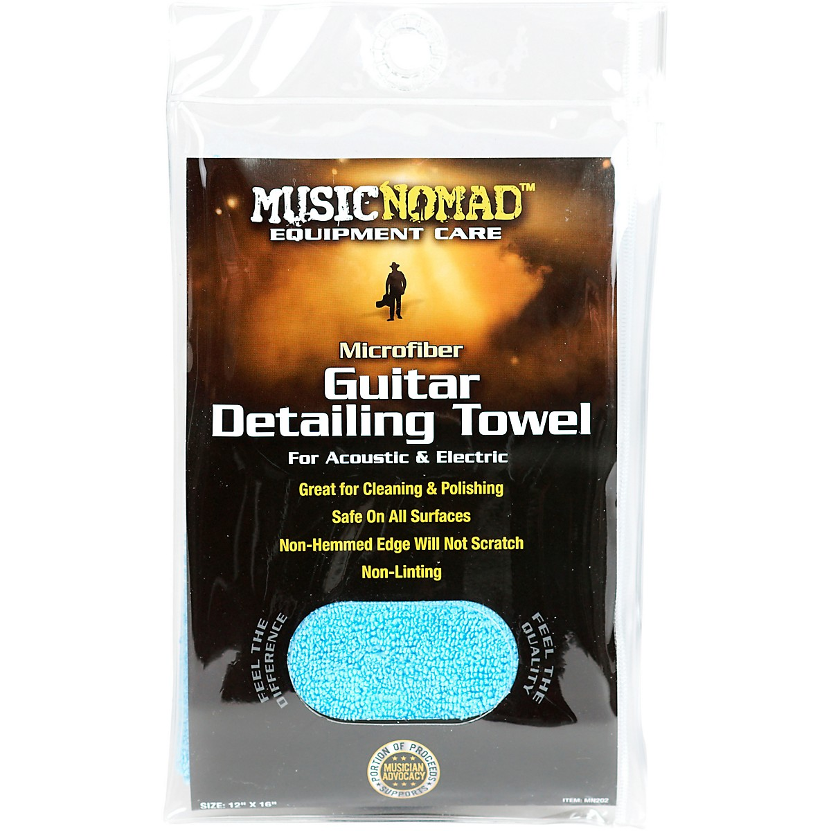 MusicNomad Edgeless Microfiber Guitar Detailing Towel