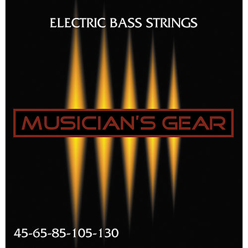 Musician's Gear Electric 5-String Nickel Plated Steel Bass Strings