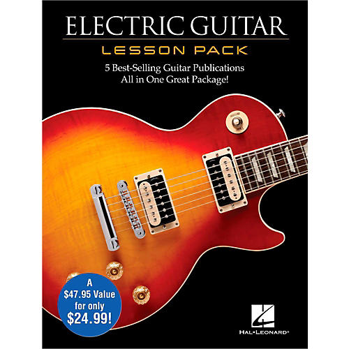 hal leonard electric guitar lesson pack boxed set with four books one dvd guitar center. Black Bedroom Furniture Sets. Home Design Ideas
