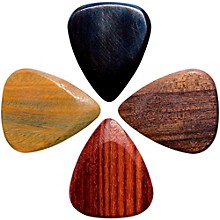 Timber Tones Electric Guitar Picks, 4-Pack