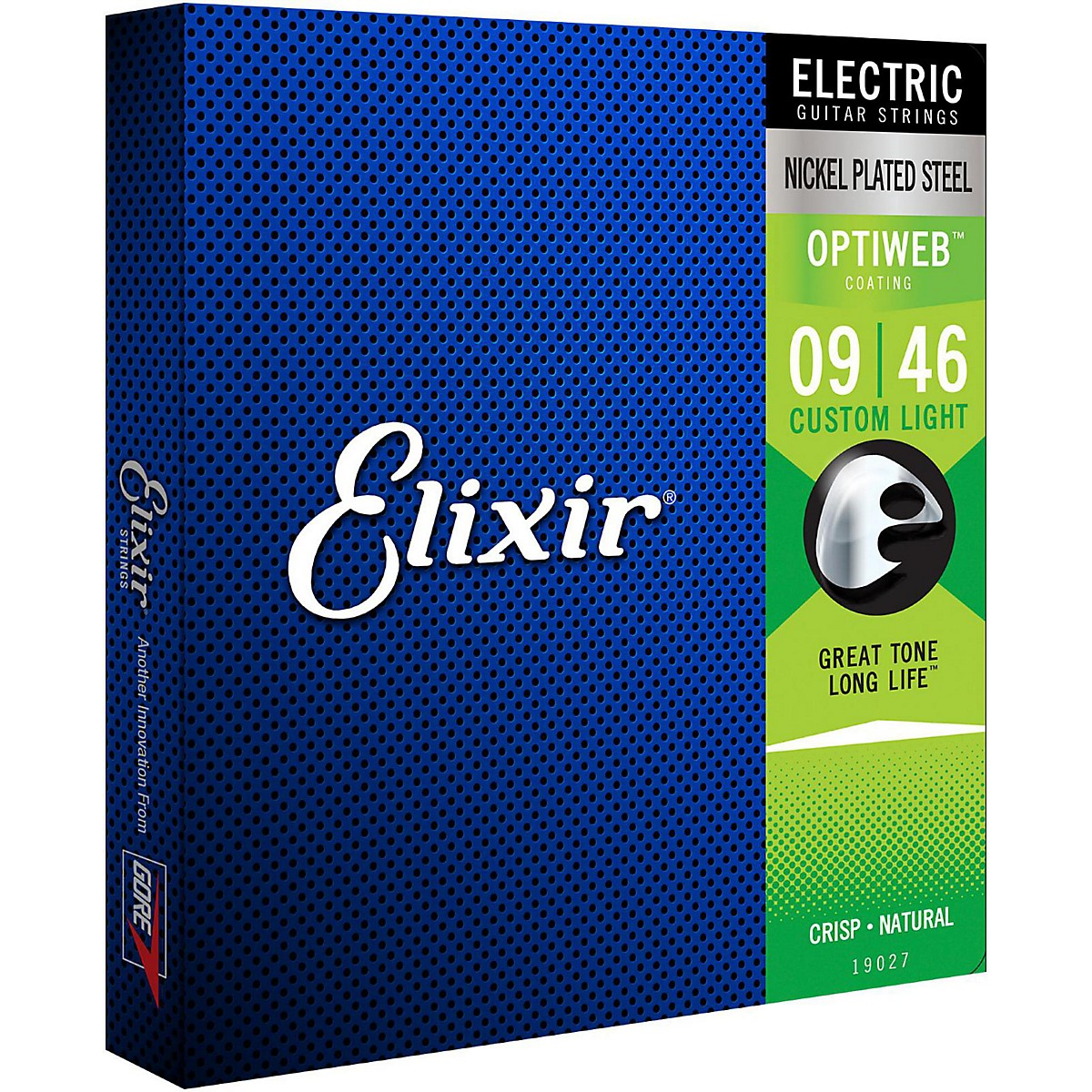 Elixir Electric Guitar Strings with OPTIWEB Coating, Custom Light (.009-.046)