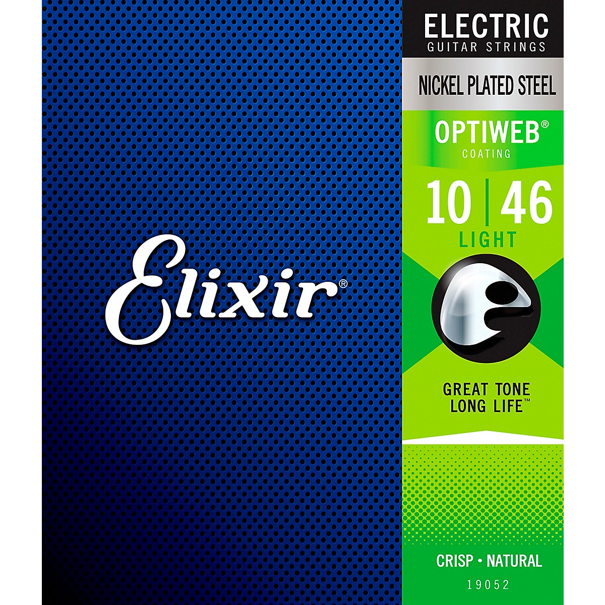 Elixir Electric Guitar Strings with OPTIWEB Coating, Light (.010-.046)