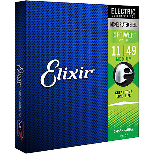 Elixir Electric Guitar Strings with OPTIWEB Coating, Medium (.011-.049)