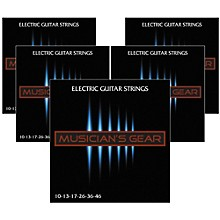 Musician's Gear Electric Nickel Plated Steel Guitar Strings 10-46 - 5-Pack