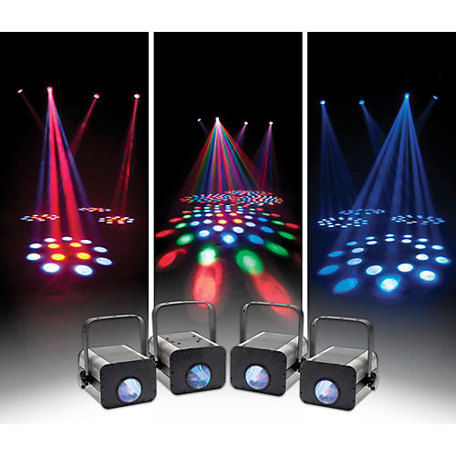 Eliminator Lighting Electro 4 Pak II LED Moonflower Lighting Effects System