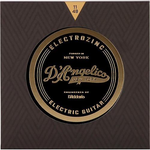 D'Angelico Electrozinc Rock 11-49 Medium Electric Guitar Strings