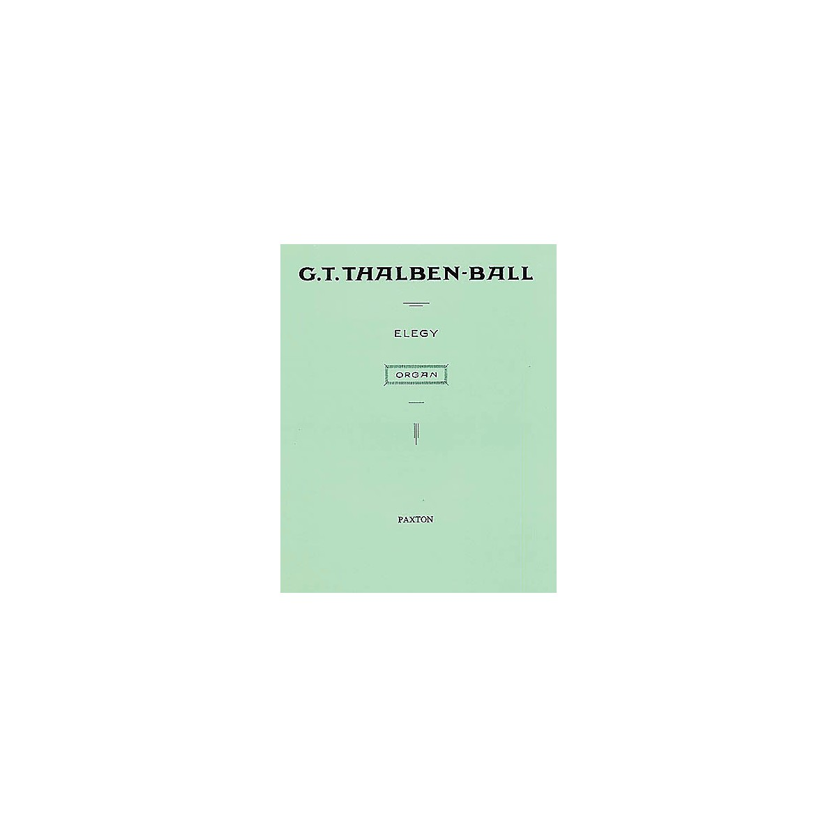 Novello Elegy for Organ Music Sales America Series Softcover