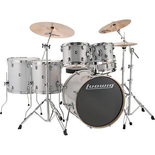 ludwig element evolution 6 piece drum set silver white sparkle guitar center