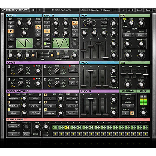 Waves Element Virtual Analog Synth Native/SG Software Download