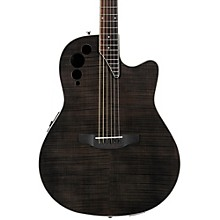 Elite Series AE44IIP Acoustic-Electric Guitar Transparent Black Flame
