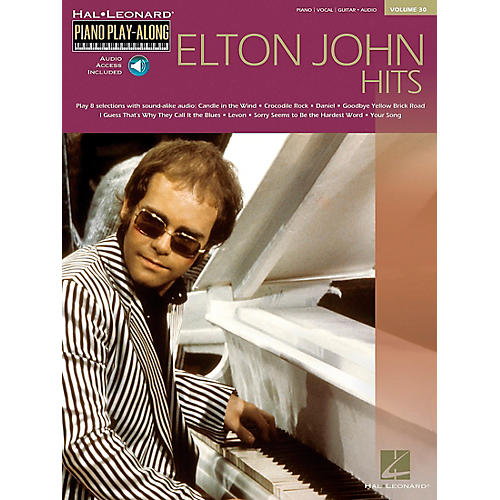 Hal Leonard Elton John Piano Play Along Volume 30 Piano, Vocal, Guitar Songbook with CD