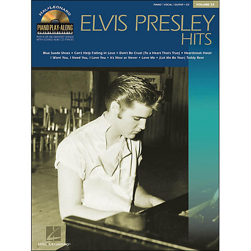 Hal Leonard Elvis Presley Hits Volume 35 Book/CD Piano Play-Along arranged for piano, vocal, and guitar (P/V/G)