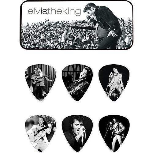 Dunlop Elvis the King Pick Tin with 6 Medium Picks