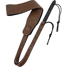 D'Addario Planet Waves Embossed Leather Banjo Strap