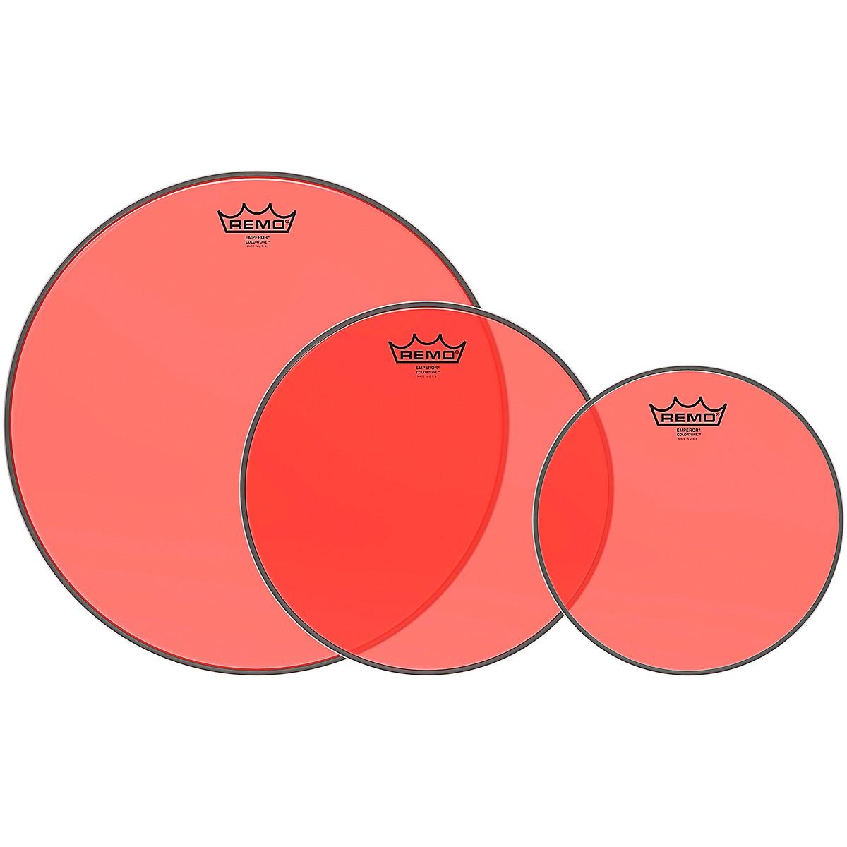 Remo Emperor Colortone Red Tom Drum Head Pack