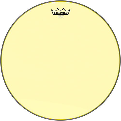 Remo Emperor Colortone Yellow Drum Head