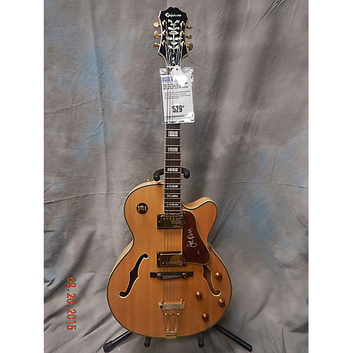 Epiphone Emperor II Joe Pass Signature Natural Hollow Body Electric Guitar