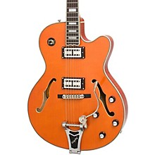 Emperor Swingster Hollowbody Electric Guitar Level 2 Sunrise Orange 190839697257