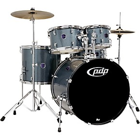 PDP by DW Encore 5-Piece Drum Kit with Hardware and Cymbals Black