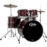 Encore 5-Piece Drum Kit with Hardware and Cymbals Ruby Red