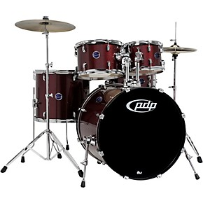 pdp by dw encore 5 piece drum kit with hardware and cymbals guitar center. Black Bedroom Furniture Sets. Home Design Ideas