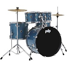 Encore Complete 5-Piece Drum Set With Chrome Hardware and Cymbals Azure Blue