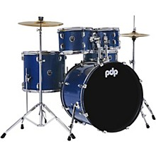 Encore Complete 5-Piece Drum Set With Chrome Hardware and Cymbals Royal Blue