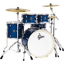 Energy 5-Piece Drum Set With Hardware and Zildjian Cymbals Dark Blue Sparkle