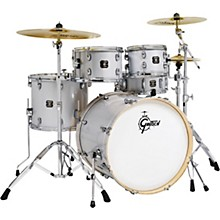 Energy 5-Piece Drum Set With Hardware and Zildjian Cymbals Light Silver Sparkle