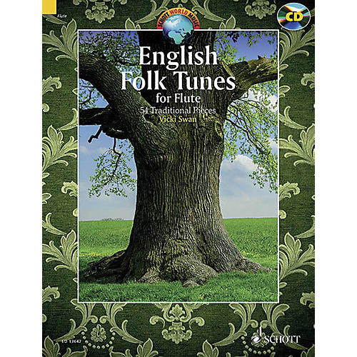 Schott English Folk Tunes for Flute (54 Traditional Pieces) Woodwind Solo Series Softcover with CD