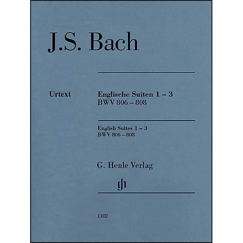 G. Henle Verlag English Suites 1-3 BWV 806-808 By Bach
