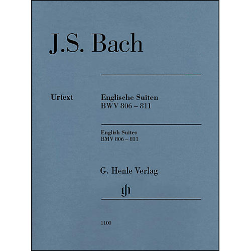G. Henle Verlag English Suites BWV 806-811 By Bach